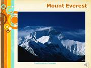 Mount Everest Lecture