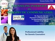 COUNSELING INTERVIEW AS THERAPEUTIC COMMUNICATION