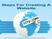 Simple steps for creating a Website