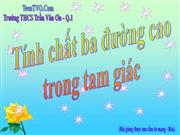 Tiet 66 Tinh chat ba duong cao trong tam giac Rat