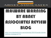 Malware Warning by Abney Associates Review Blog - Why Malware Warnings
