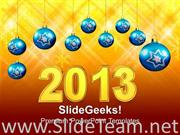 2013 YEAR WITH FILIGREE DECORATION EVENT POWERPOINT TEMPLATE