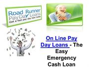 On Line Pay Day Loans