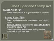 Taxes & Stamp Act with audio