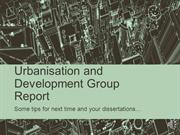 Feedback on Group Reports for Urbanisation and Development