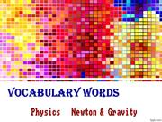 Newton Gravity Vocab
