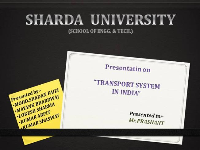mode of transport in india pdf