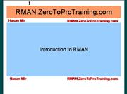 Introduction to Oracle RMAN
