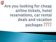 Cheap air E tickets