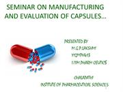 ppt of manufacturing and evaluation of capsules
