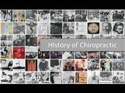 History of Chiropractic