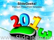 2013 WITH MOUSE CELEBRATION HOLIDAYS POWERPOINT TEMPLATE