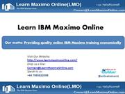 Learn Maximo Online_Knowledge Sharing