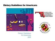 Dietary_Guidelines for Americans Power P