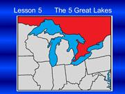 Learning The USA Lesson 5 The 5 Great Lakes