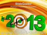 DART HITS NEW YEAR BUSINESS CONCEPT POWERPOINT TEMPLATE
