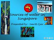 Sources of water in Singapore