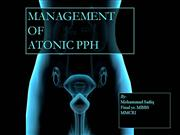 Management of Atonic PPH