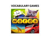 VOCABULARY GAMES