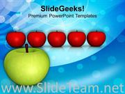 APPLE ISOLATED TEAM AGRICULTURE POWERPOINT TEMPLATE