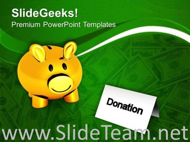 Donation money charity theme powerpoint template powerpoint template toneelgroepblik Image collections