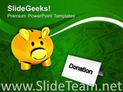 DONATION MONEY CHARITY THEME POWERPOINT TEMPLATE