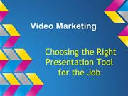 Video Marketing - Presentation Tools - Google Drive