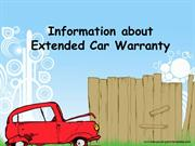 Information About Extended Car Warranty