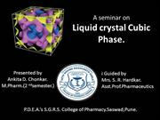 Cubic phase gels