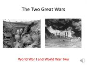 His 102 The Two Great Wars Recording (TMC 2012-13)
