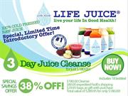 Life Juice 3 Day Organic Fruit and Vegetable Juice Cleanse