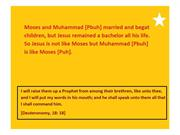 Jesus is not like Moses but Muhammad is like Moses 1 (10)