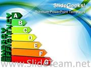 ENERGY EFFICIENCY CHART POWERPOINT BACKGROUND