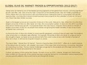 Global Olive Oil Market Trends & Opportunities (2012-2017)