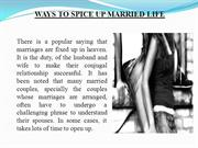 01 Ways to spice up married life
