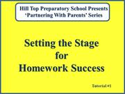 Homework - Setting the Stage 2