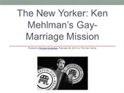 Kenneth Mehlman's Gay-Marriage Mission: The New Yorker