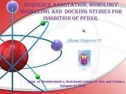Homology modelling and docking studies of pfDXR