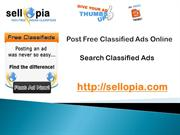 Post and Search Free Classified Advertising Online