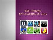 BEST IPHONE APPLICATIONS OF 2012