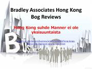 Bradley Associates Hong Kong Bog Reviews- Hong Kong suhde Manner ei ol