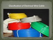 Classification of Electrical Wire Cable