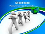 Team_Pulling_The_World_Business_PowerPoint_Templates_And_PowerPoint_Ba