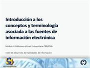 INTRODUCCION TERMINOLOGIA ASOCIADA A FUENTES DE INFORMACION