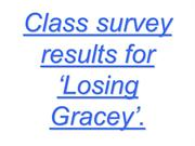 Class survey results for 'Losing Gracey'