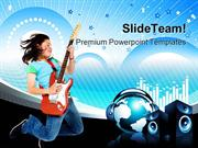 Teenage_Girl_Jumping_Music_PowerPoint_Templates_And_PowerPoint_Backgro