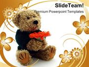 Teddy_Bear_With_Flower_Children_PowerPoint_Themes_And_PowerPoint_Slide