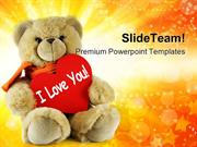 Teddy_With_I_Love_You_Metaphor_PowerPoint_Templates_And_PowerPoint_Bac