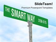 The_Smart_Way_Symbol_PowerPoint_Templates_And_PowerPoint_Backgrounds_p