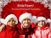 Three_Children_Christmas_PowerPoint_Templates_And_PowerPoint_Backgroun